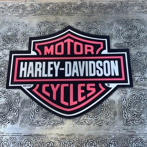 Harley-Davidson 2011 Logo Pink, Black & White Computer Mouse Pad